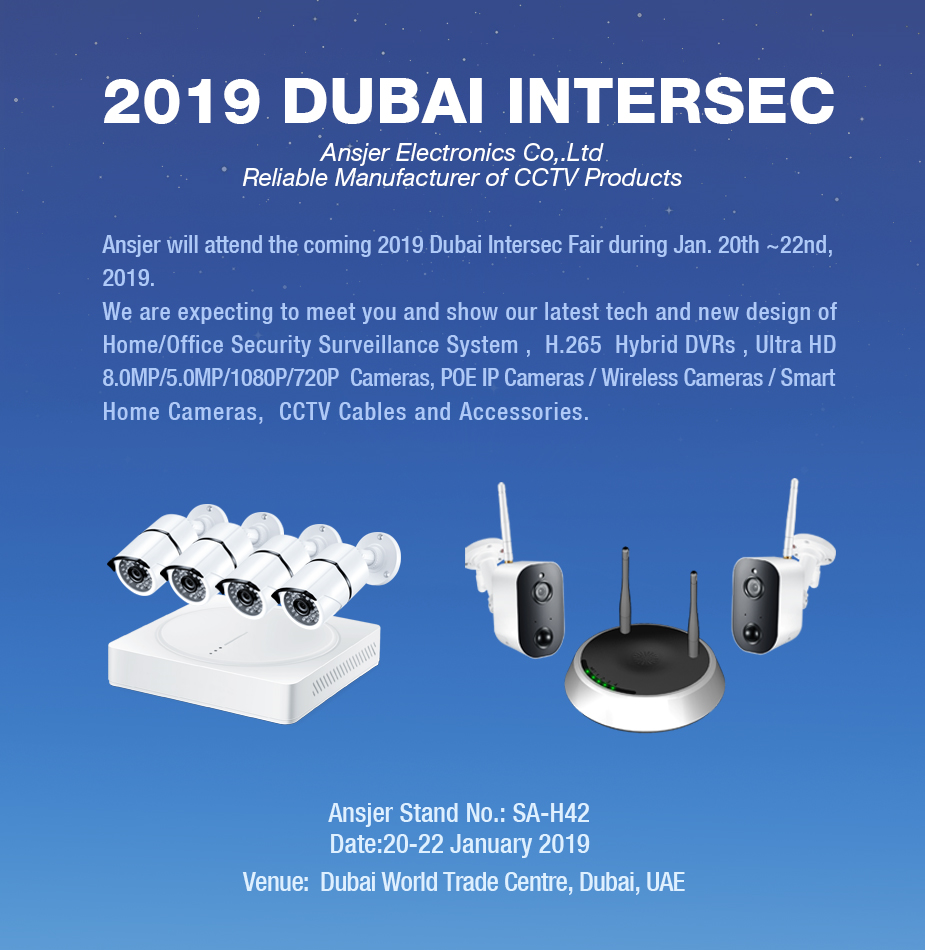 Ansjer-2019 Dubai Intersec | Video Surveillance System-2