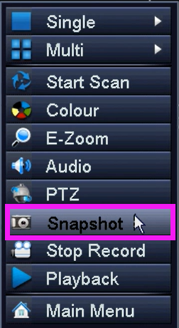 Ansjer-How To Take Snap Shots And Where To Find Them On Dvr System