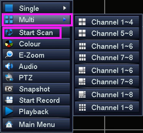 Ansjer-How To Set Up scan Function On Dvr-1