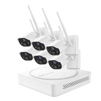 Ansjer H.265 1080P Full HD Wire-Free Security Camera System, 6 Channel NVR with 6 HD Battery Powered Weatherproof Cameras, Easy Installation Support up to 6 Thermal Sensing HD Cameras, 600ft Wireless Range, 100ft Night Vision