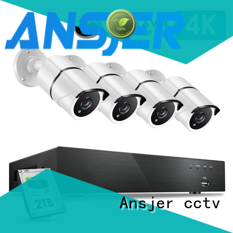 Ansjer cctv electric 4k camera system supplier for home