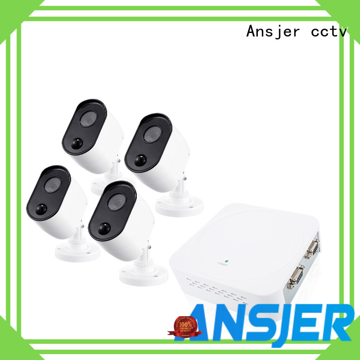 Ansjer cctv electric 1080p surveillance system series for office