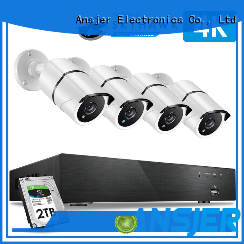 Ansjer cctv system best 4k security camera system supplier for office