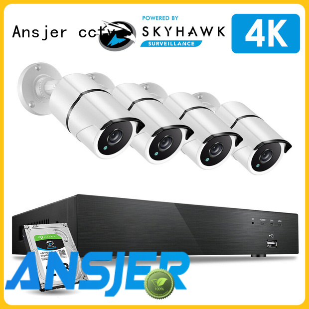 Ansjer cctv recorder 4k security system wholesale for surveillance