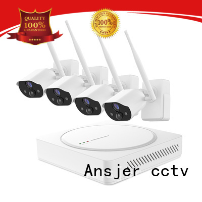 Ansjer H.265 1080P Full HD Wire Free Security Camera System, 6 Channel NVR with 4 HD Battery Powered Weatherproof Cameras, Easy Installation Support up to 6 Thermal Sensing HD Cameras, 600ft Wireless Range, 100ft Night Vision