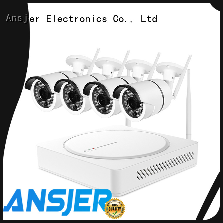 Ansjer cctv security outdoor wireless security camera system with night vision for office