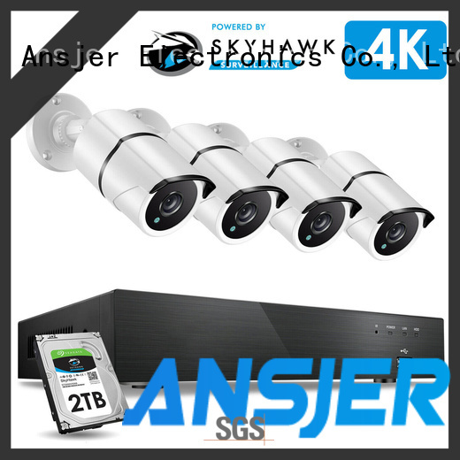 Ansjer cctv durable 4k security system manufacturer for indoors or outdoors