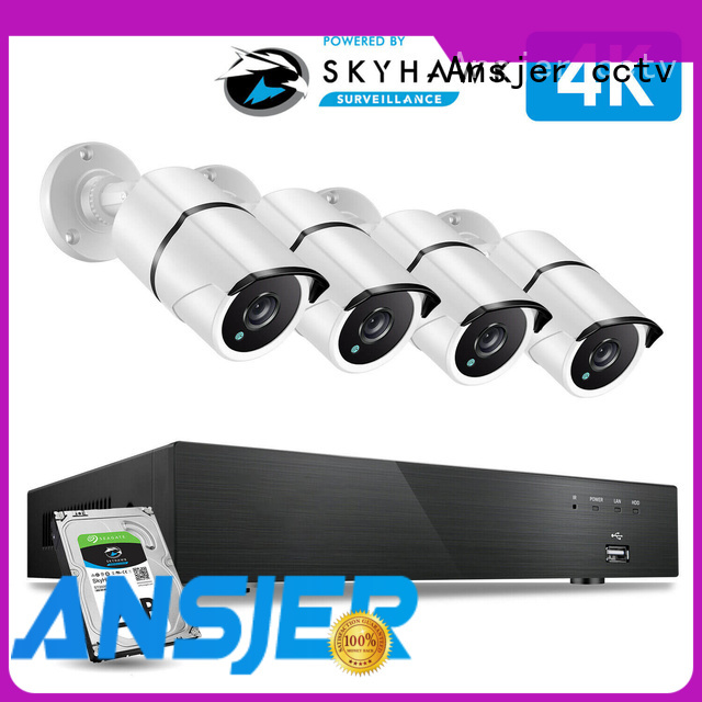 Ansjer cctv high quality 8mp security camera system supplier for home
