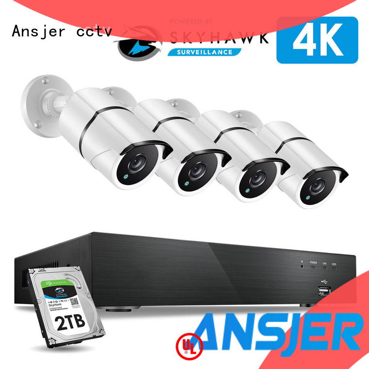 Ansjer cctv viewing 4k security system wholesale for surveillance