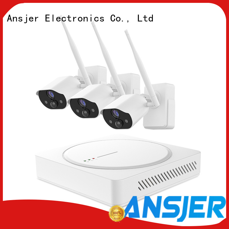 Ansjer cctv wire-free best smart home security system supplier for office