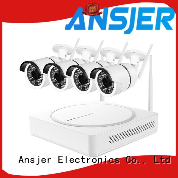 Ansjer cctv app 1080p hd wireless security camera system supplier for home
