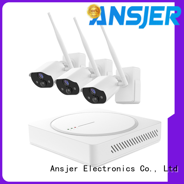 Ansjer cctv wire-free best smart home security system series for office