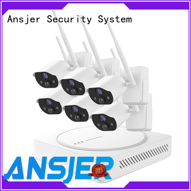 Ansjer cctv powered smart home security system manufacturer for indoors or outdoors