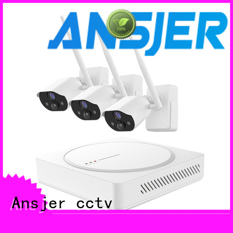 Ansjer cctv wire-free smart home security system manufacturer for surveillance