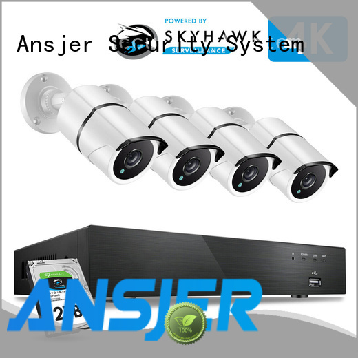 Ansjer cctv durable 4k cctv system wholesale for office