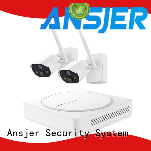 Ansjer cctv powered best smart home security system series for surveillance