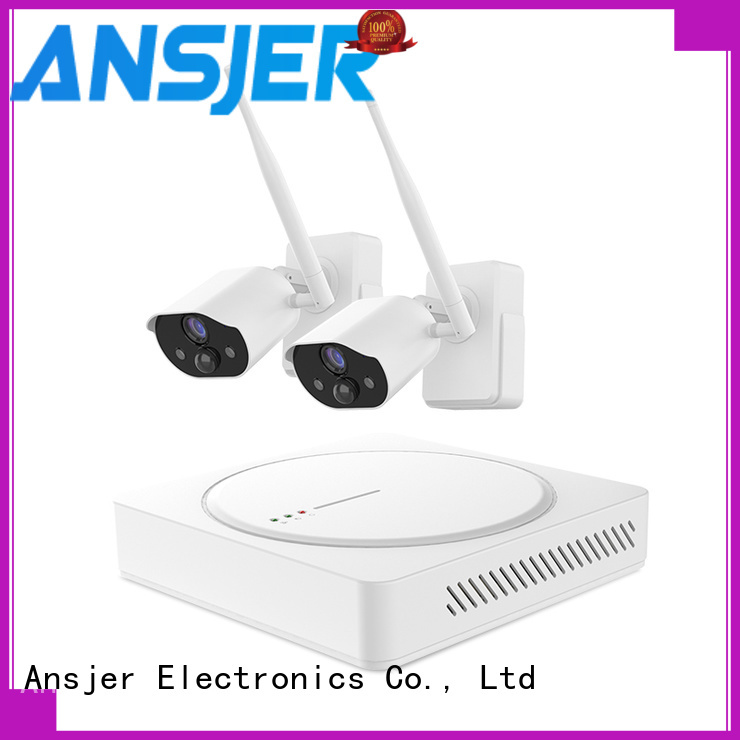 Ansjer cctv wire-free best smart home security system manufacturer for indoors or outdoors
