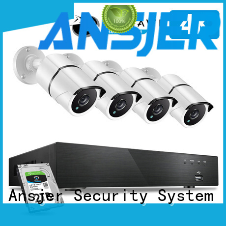 Ansjer cctv channel 4k ip camera system series for indoors or outdoors