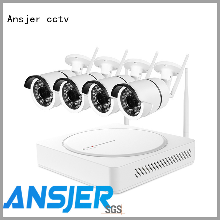 Ansjer cctv nvr 1080p hd wireless security camera system series for surveillance