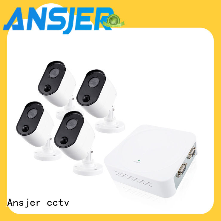 Ansjer cctv high quality 1080p outdoor security camera system manufacturer for home