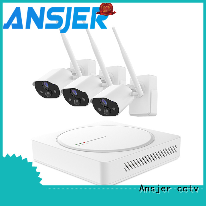 Ansjer cctv wire-free smart home surveillance systems series for indoors or outdoors