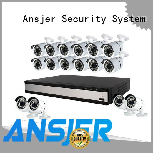 Ansjer cctv high quality best 1080p security camera system wholesale for indoors or outdoors