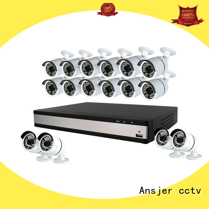 Ansjer cctv dvr 4 camera 1080p security system manufacturer for indoors or outdoors