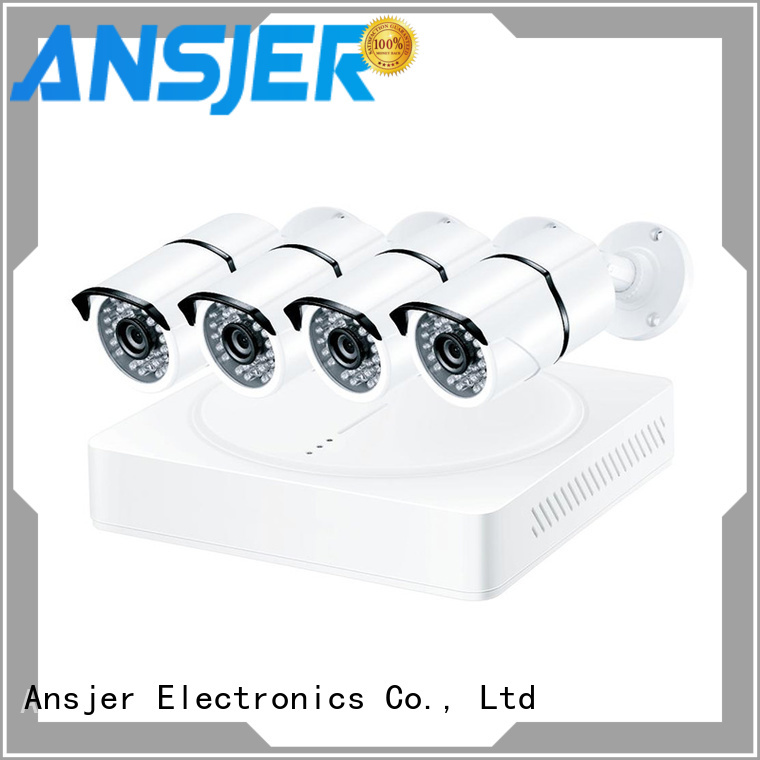 Ansjer cctv electric 4k video surveillance system series for office