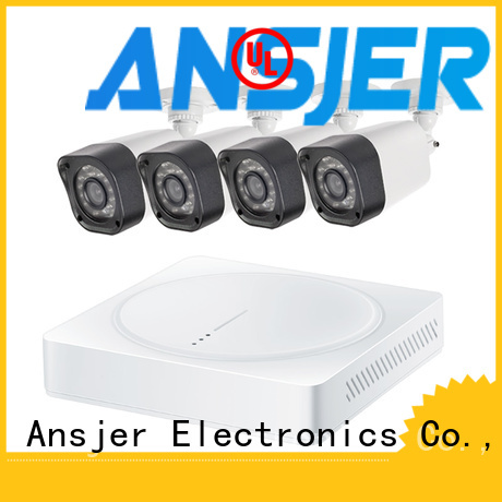 Ansjer cctv high quality 720p security camera system with night vision for indoors or outdoors