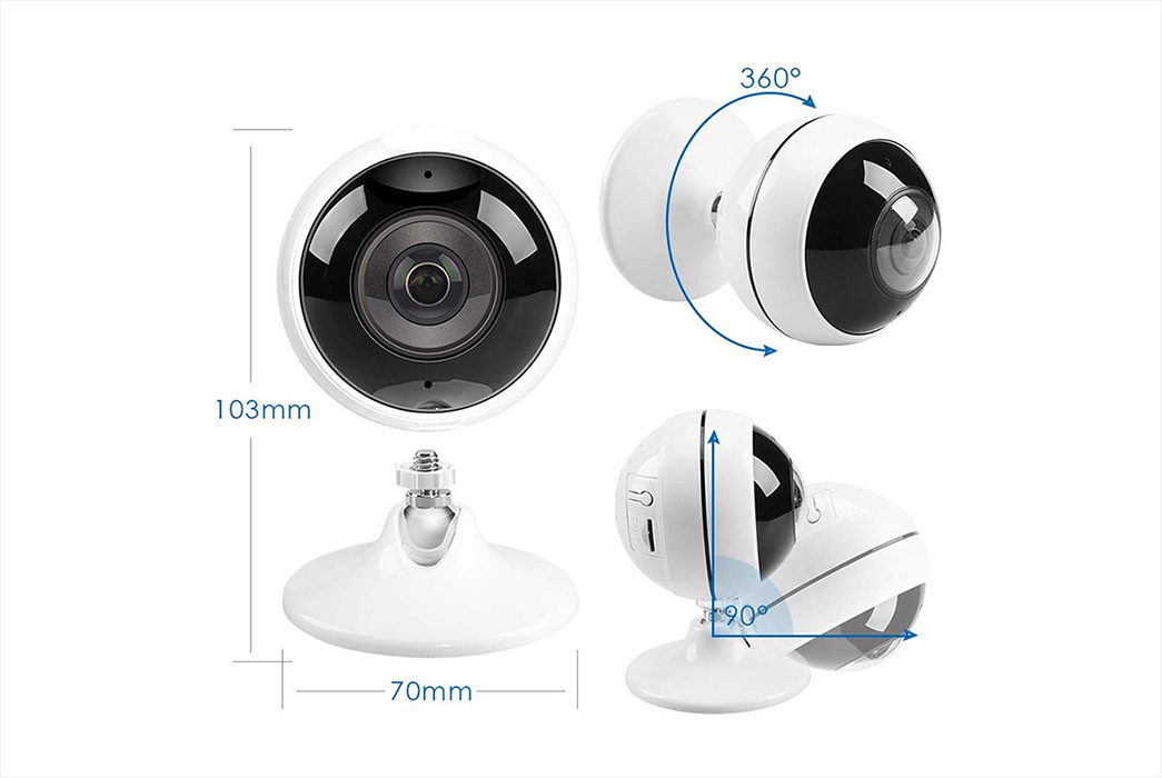 Ansjer cctv durable home security ip camera supplier for office-1