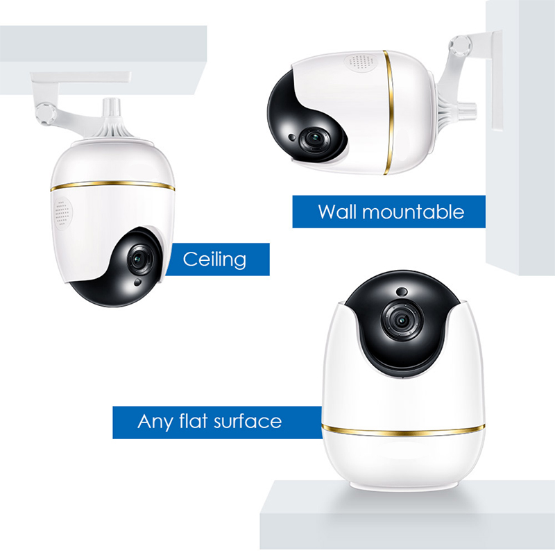 Ansjer-Ansjer C512 1080P HD Smart Wireless Security Pan Tilt IP Camera Two-Way Audio Baby Monitor-1