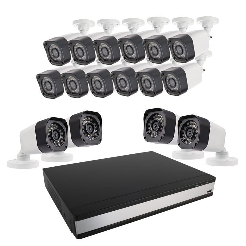 Ansjer 720P HD H.264 CCTV DVR Kit, 16 Channel DVR Recorder with 16 HD 1.0MP Outdoor/Indoor Bullet Cameras IP66, 60FT Night Vision, Motion Email Alert, Internet & Smartphone Viewing