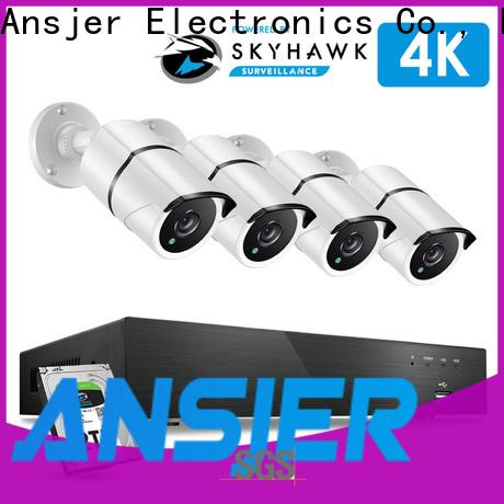 Ansjer cctv bullet 4k surveillance system wholesale for office