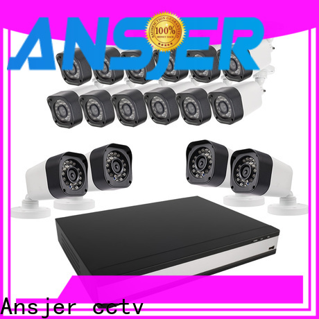 Ansjer cctv electric 720p security camera system with night vision for indoors or outdoors