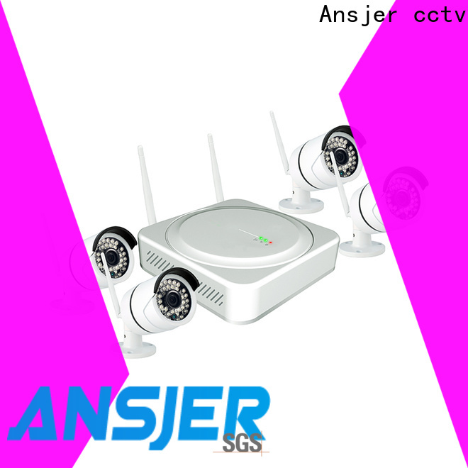 Ansjer cctv system wireless surveillance system series for indoors or outdoors