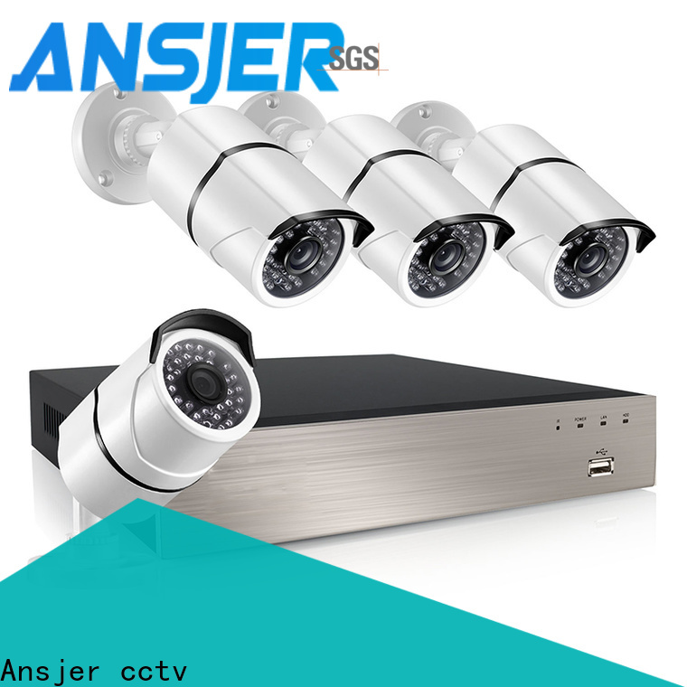 Ansjer cctv camera poe security camera system 1080p wholesale for home