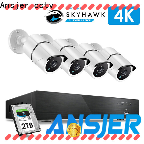 Ansjer cctv motion 4k cctv system supplier for home