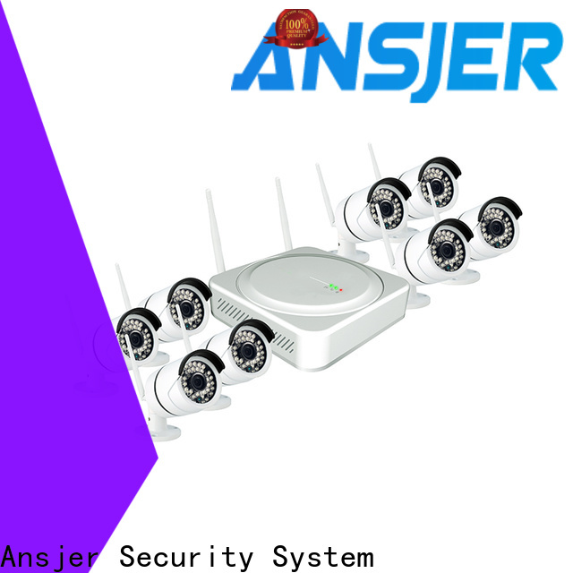 Ansjer cctv durable outdoor wireless security camera system supplier for office