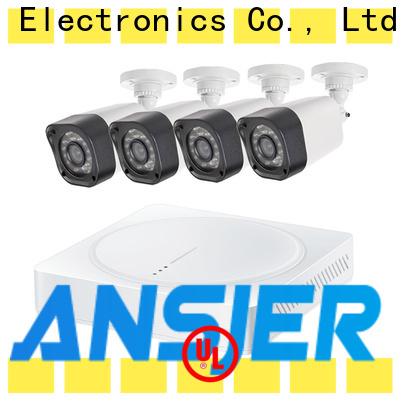Ansjer cctv outdoor 720p security camera system with night vision for office