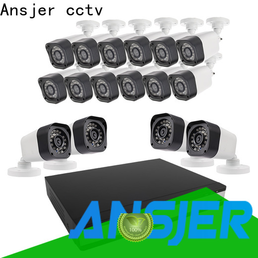 Ansjer cctv kit 720p camera system with night vision for office