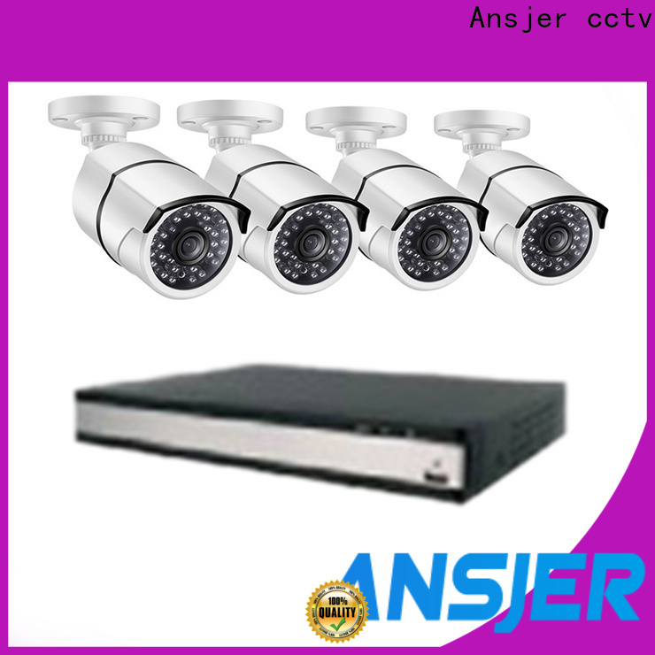 Ansjer cctv durable poe security camera system 1080p series for indoors or outdoors