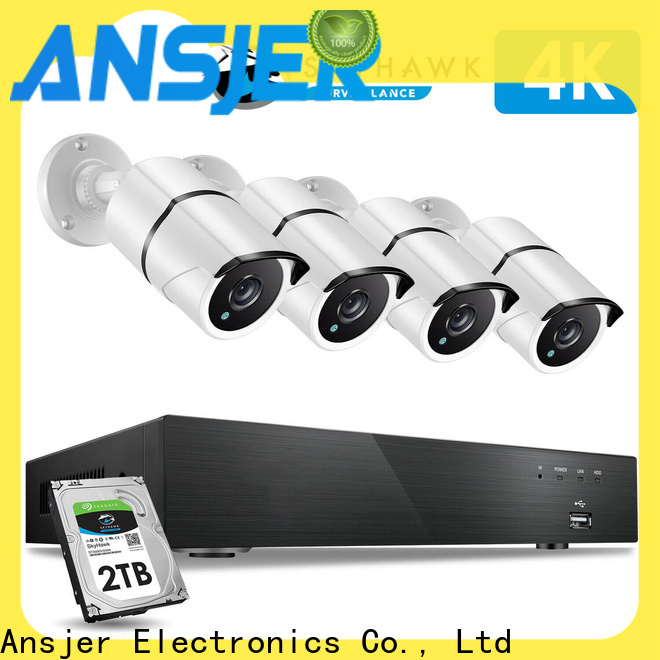 Ansjer cctv channel 4k ip camera system wholesale for indoors or outdoors