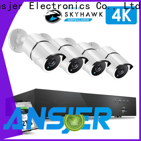 Ansjer cctv internet 8mp security camera system manufacturer for indoors or outdoors
