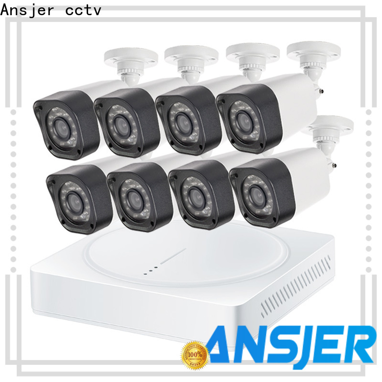 Ansjer cctv viewing 720p hd security camera system with night vision for surveillance