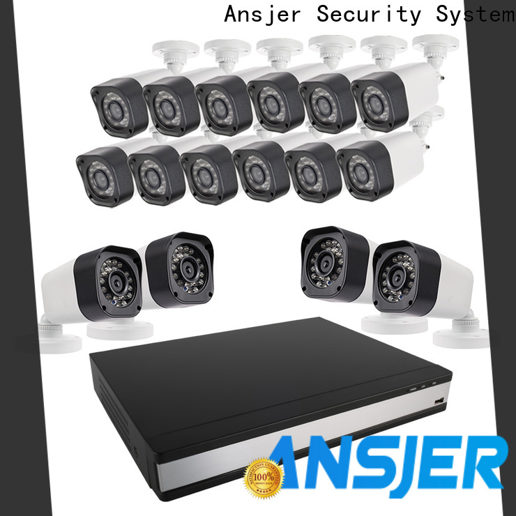 Ansjer cctv camera 720p hd security camera system with night vision for office