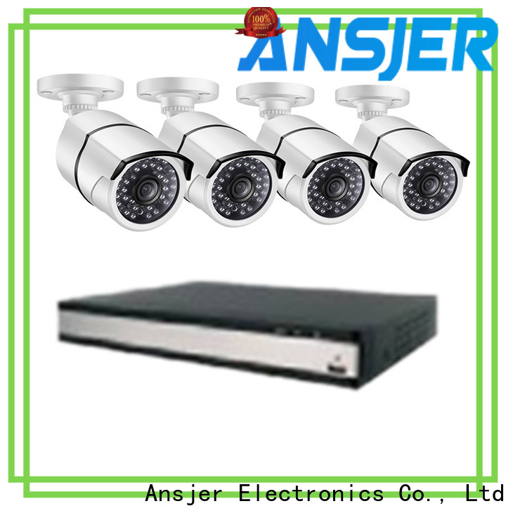 Ansjer cctv security 1080p poe security system wholesale for office