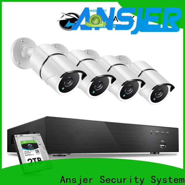 Ansjer cctv high quality 4k security camera system supplier for home