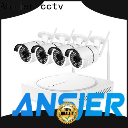 Ansjer cctv 1080p hd wireless security camera system with night vision for surveillance