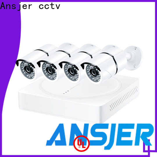 Ansjer cctv security 1080p outdoor security camera system supplier for office