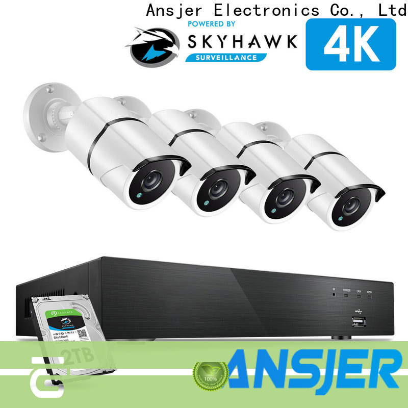 electric 4k video surveillance system bullet series for home